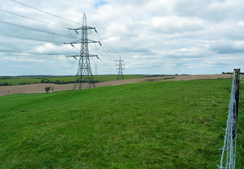 Pylons in Landscape
