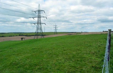Pylons in Landscape